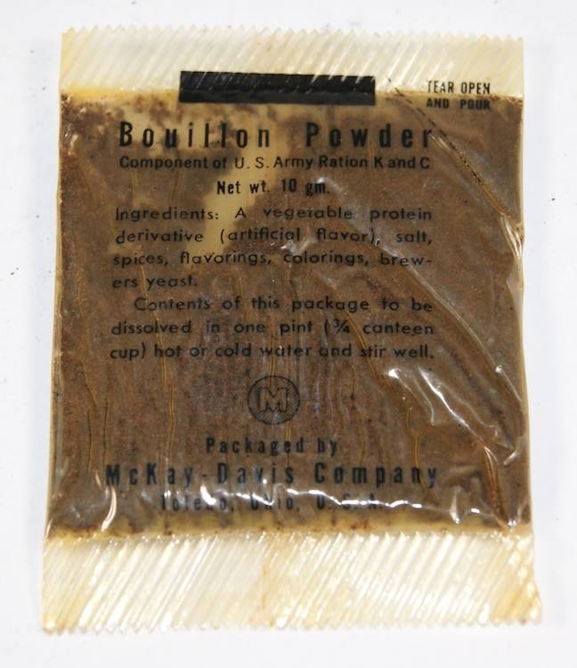 Bouillon powder K and C ration